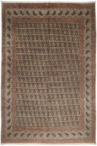 Kerman Matta 330X485 Äkta Orientalisk Handknuten Ljusbrun/Brun Stor (Ull, Persien/Iran)