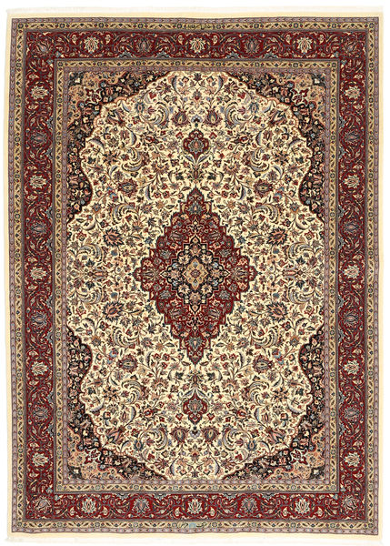 Ilam Sherkat Farsh Silkki Matto 175X245 Itämainen Käsinsolmittu Vaaleanruskea/Tummanruskea (Villa/Silkki, Persia/Iran)