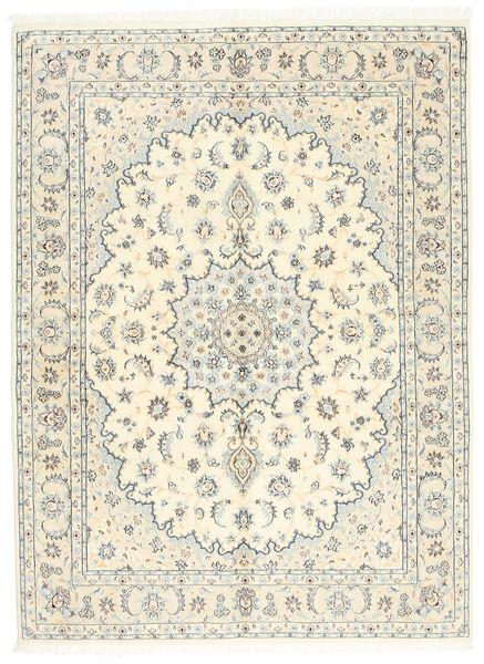 Nain 9La Matto 146X200 Itämainen Käsinsolmittu Beige/Vaaleanharmaa (Villa/Silkki, Persia/Iran)