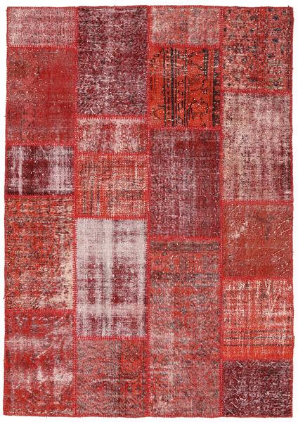 Patchwork Rug 160X230 Authentic  Modern Handknotted Brown/Dark Red (Wool, Turkey)