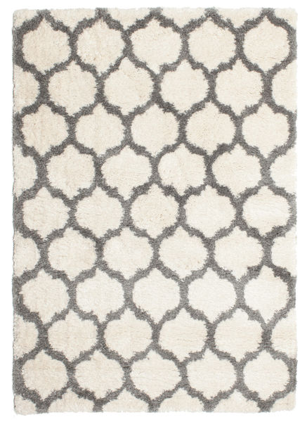Berber Shaggy Illusia - Off White/Grey Rug 160X230 Modern Beige/Light Grey ( Turkey)