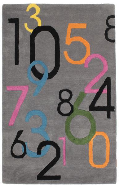 Lucky Numbers - Szary Dywan 100X160 Nowoczesny Jasnoszary/Ciemnoszary (Wełna, Indie)
