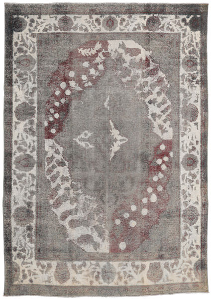 Colored Vintage Rug 245X347 Authentic  Modern Handknotted Light Grey/Dark Grey (Wool, Persia/Iran)