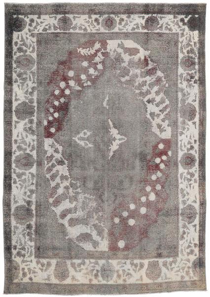 カラード ヴィンテージ 絨毯 245X347 モダン 手織り 薄い灰色/濃いグレー (ウール, ペルシャ/イラン)