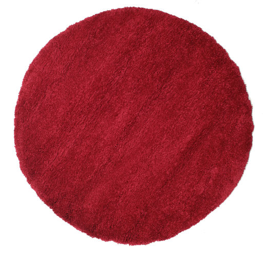 Shaggy Sadeh - Rouge Tapis Ø 150 Moderne Rond Rouge/Rouge Foncé ( Turquie)