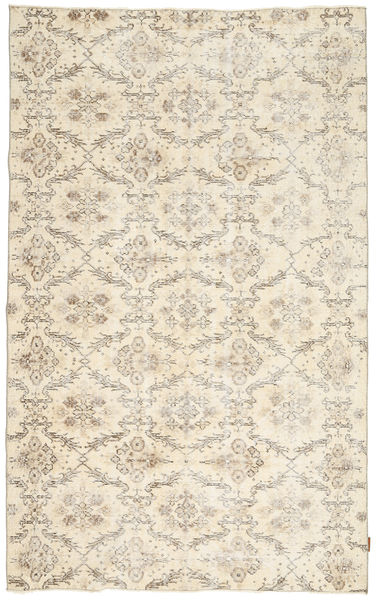 Colored Vintage Rug 162X262 Authentic  Modern Handknotted Beige/Light Brown (Wool, Turkey)