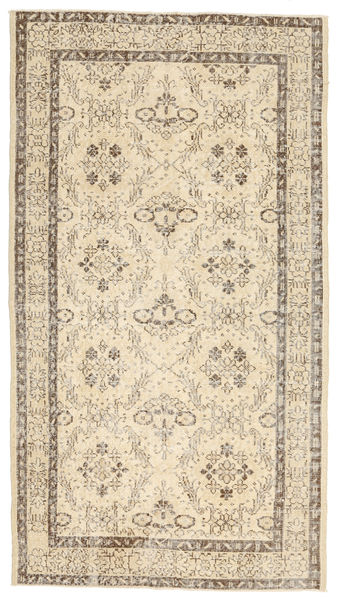 Colored Vintage Rug 115X208 Authentic  Modern Handknotted Light Brown/Beige (Wool, Turkey)
