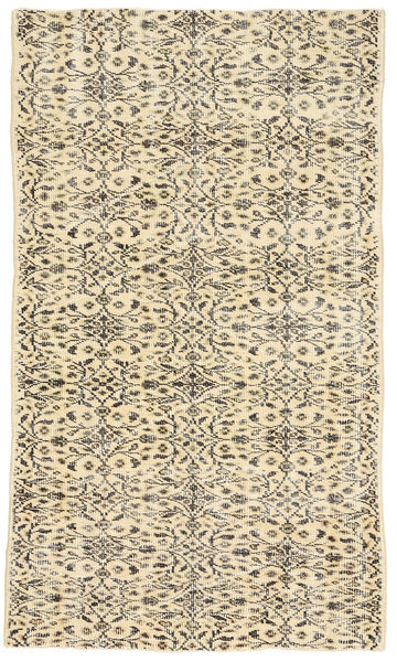 Colored Vintage Rug 116X201 Authentic  Modern Handknotted Beige/Light Brown (Wool, Turkey)