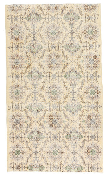 Colored Vintage Rug 116X206 Authentic  Modern Handknotted Light Brown/Beige (Wool, Turkey)