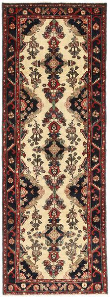 Hamadan Patina Matto 105X295 Itämainen Käsinsolmittu Käytävämatto Musta/Tummanruskea (Villa, Persia/Iran)