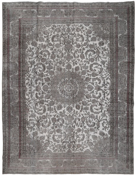 Colored Vintage Rug 291X380 Authentic  Modern Handknotted Dark Brown/Light Grey Large (Wool, Persia/Iran)