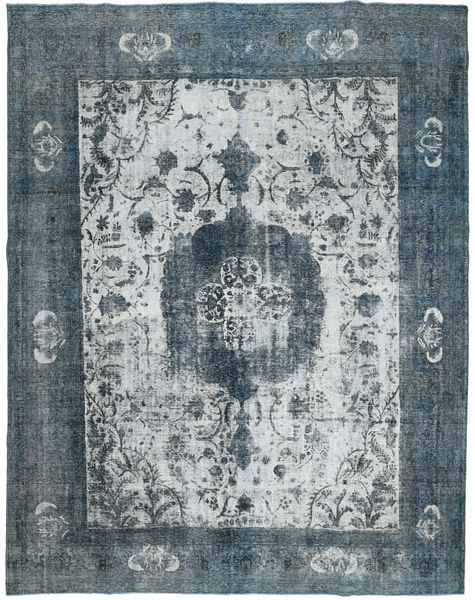 Colored Vintage Rug 295X367 Authentic  Modern Handknotted Light Grey/Blue Large (Wool, Persia/Iran)