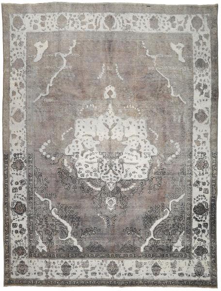 Colored Vintage Dywan 297X393 Nowoczesny Tkany Ręcznie Jasnoszary/Ciemnoszary Duży (Wełna, Persja/Iran)