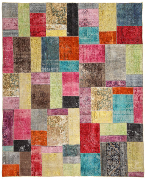 Patchwork Rug 240X295 Authentic  Modern Handknotted Light Grey/Yellow (Wool, Persia/Iran)