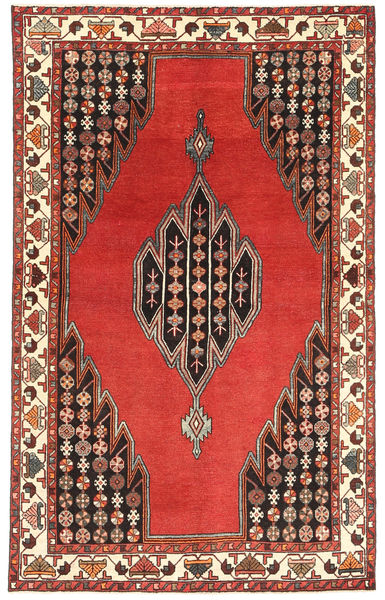 Lillian Patina Rug 132X215 Authentic  Oriental Handknotted Rust Red/Dark Brown (Wool, Persia/Iran)