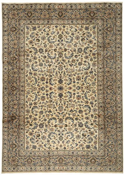 Keshan Teppe 250X350 Ekte Orientalsk Håndknyttet Lysbrun/Mørk Grå Stort (Ull, Persia/Iran)