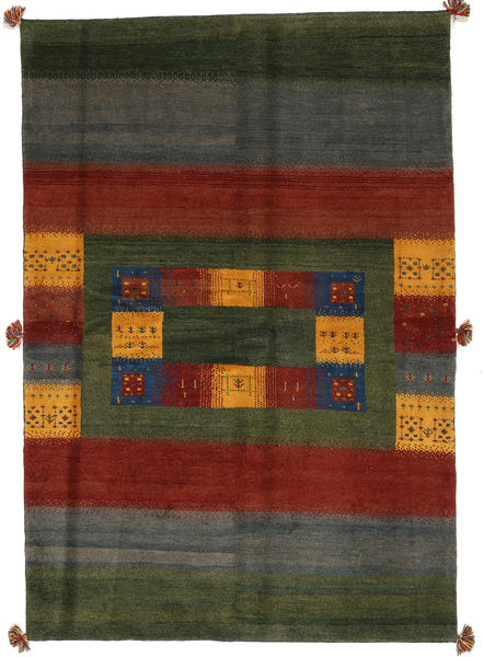 Gabbeh Persia Rug 170X246 Authentic  Modern Handknotted Dark Green/Dark Red (Wool, Persia/Iran)