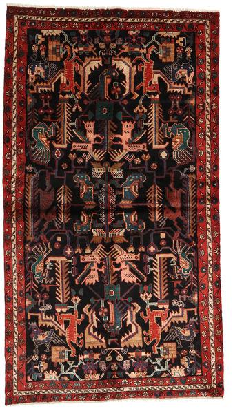 Nahavand Matto 137X245 Itämainen Käsinsolmittu Tummanruskea/Tummanpunainen (Villa, Persia/Iran)