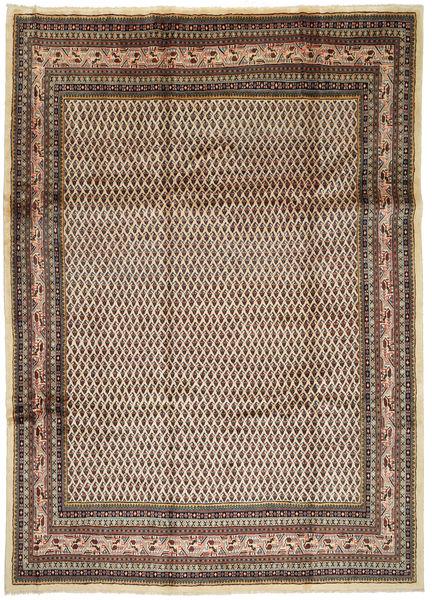 Arak Matto 245X345 Itämainen Käsinsolmittu Vaaleanruskea/Tummanruskea (Villa, Persia/Iran)