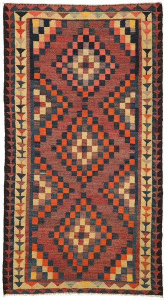 Kilim Fars Rug 150X283 Authentic  Oriental Handwoven Brown/Dark Blue (Wool, Persia/Iran)