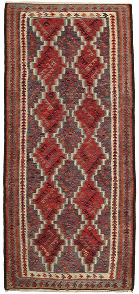 Kelim Fars Matto 150X325 Itämainen Käsinkudottu Vaaleanruskea/Tummanruskea/Ruskea (Villa, Persia/Iran)