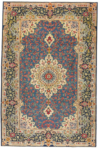 Kashan Patina Covor 208X317 Orientale Lucrat Manual Albastru Închis/Gri Închis (Lână, Persia/Iran)