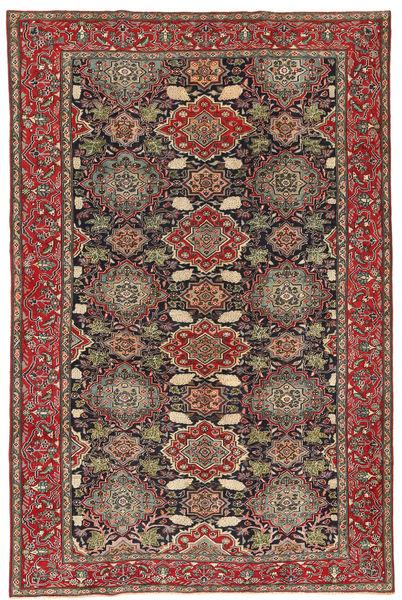 Nadżafabad Patina Dywan 200X307 Orientalny Tkany Ręcznie Ciemnoczerwony/Ciemnoszary (Wełna, Persja/Iran)