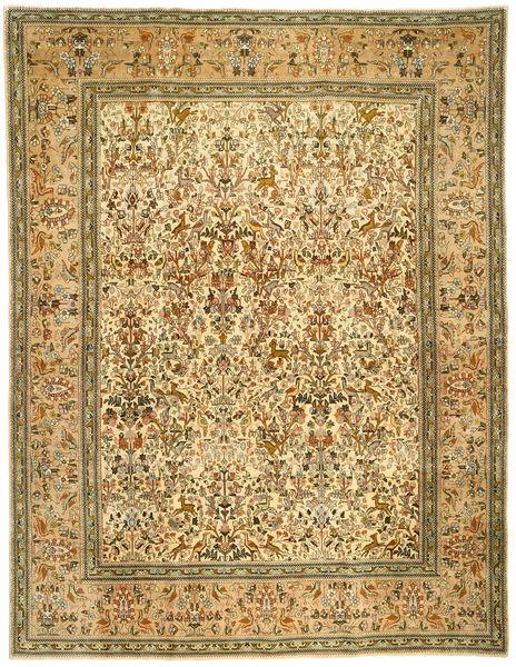 Tabriz Patina Tabatabi Teppe 300X390 Ekte Orientalsk Håndknyttet Brun/Lysbrun Stort (Ull, Persia/Iran)