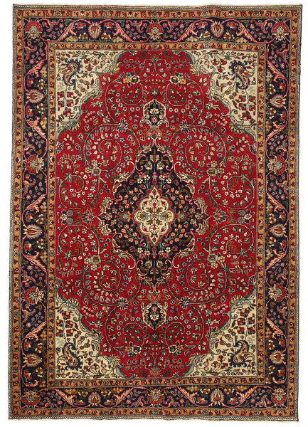 Tabriz Patina Rug 210X303 Authentic  Oriental Handknotted Dark Red/Light Brown (Wool, Persia/Iran)