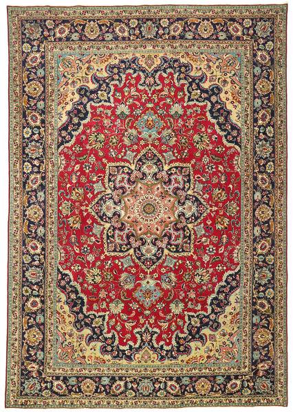 Tebriz Patina Dywan 245X355 Orientalny Tkany Ręcznie Ciemnoczerwony/Czarny (Wełna, Persja/Iran)