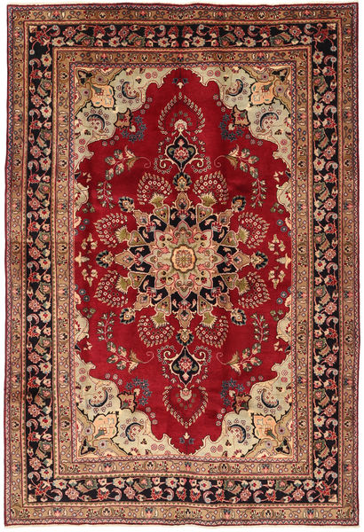 Mashad Rug 203X300 Authentic  Oriental Handknotted Dark Red/Dark Brown (Wool, Persia/Iran)