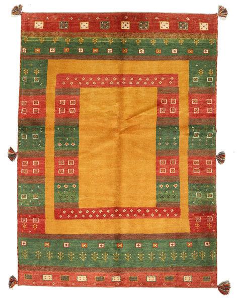 Gabbeh Persisk Matta 147X203 Äkta Modern Handknuten Orange/Mörkgrön (Ull, Persien/Iran)