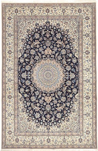 Nain 6La Habibian Teppe 207X320 Ekte Orientalsk Håndknyttet Lys Grå/Lysbrun (Ull/Silke, Persia/Iran)