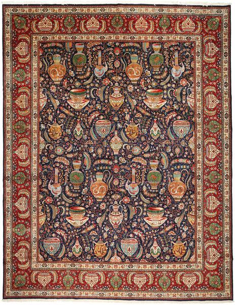 Tabriz Rug 300X384 Authentic  Oriental Handknotted Dark Blue/Dark Red Large (Wool, Persia/Iran)