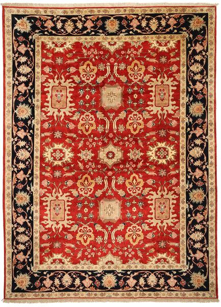Tabriz Allekirjoitettu: Parvizian Matto 301X418 Itämainen Käsinsolmittu Ruoste/Tummanbeige Isot (Villa/Silkki, Persia/Iran)