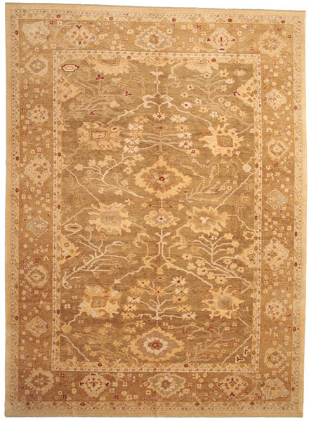 Oushak Rug 328X446 Authentic  Oriental Handknotted Light Brown/Brown Large (Wool, Turkey)