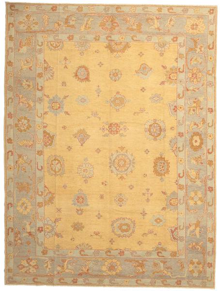 Oushak Rug 288X382 Authentic  Oriental Handknotted Dark Beige/Light Brown Large (Wool, Turkey)