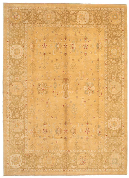 Oushak Rug 283X386 Authentic  Oriental Handknotted Light Brown Large (Wool, Turkey)