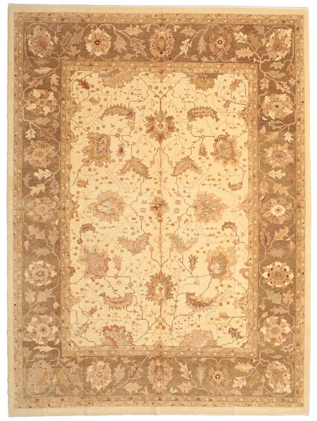 Oushak Rug 308X410 Authentic  Oriental Handknotted Light Brown/Light Pink Large (Wool, Turkey)