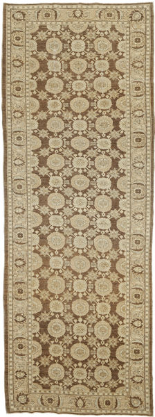 Ziegler Ariana Rug 128X367 Authentic  Oriental Handknotted Hallway Runner  Light Brown/Olive Green (Wool, Afghanistan)