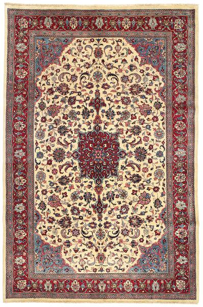 Mashad Matta 200X310 Äkta Orientalisk Handknuten Beige/Brun (Ull, Persien/Iran)