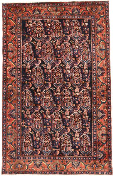 Nahavand Rug 133X213 Authentic  Oriental Handknotted Brown/Black (Wool, Persia/Iran)