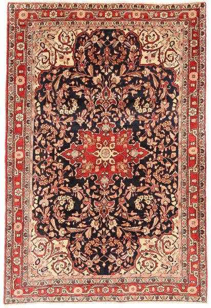 Jozan Covor 132X201 Orientale Lucrat Manual Roșu-Închis/Maro Deschis (Lână, Persia/Iran)