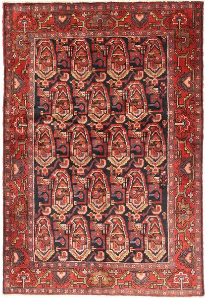 ナハバンド 絨毯 140X206 オリエンタル 手織り 茶/深紅色の (ウール, ペルシャ/イラン)