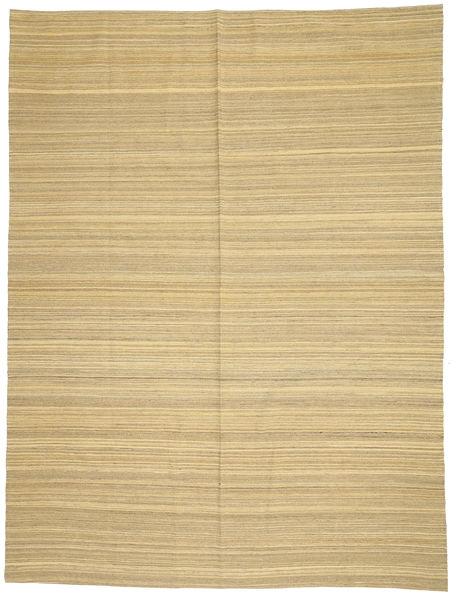 Kelim Moderni Matto 214X285 Moderni Käsinkudottu Keltainen/Vaaleanruskea (Villa, Afganistan)