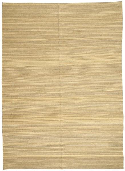 Kelim Moderni Matto 206X287 Moderni Käsinkudottu Vaaleanruskea/Keltainen (Villa, Afganistan)