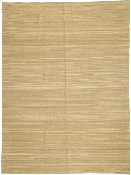 Kelim Moderni Matto 210X279 Moderni Käsinkudottu Vaaleanruskea/Keltainen (Villa, Afganistan)