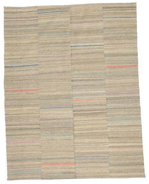 Kelim Moderni Matto 152X195 Moderni Käsinkudottu Vaaleanruskea/Tummanbeige (Villa, Afganistan)