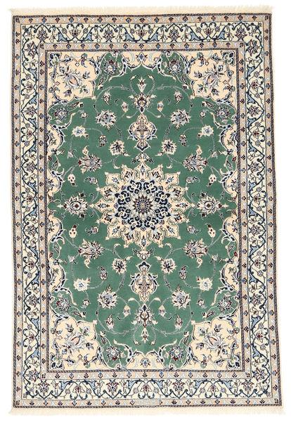 Nain 6La Matto 101X152 Itämainen Käsinsolmittu Beige/Tummanharmaa (Villa/Silkki, Persia/Iran)