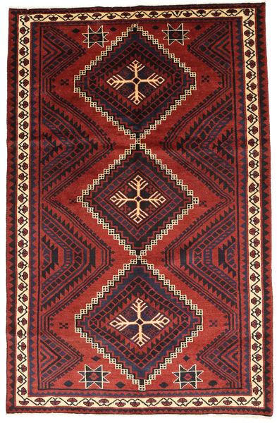 Lori Rug 165X260 Authentic  Oriental Handknotted Dark Red/Rust Red (Wool, Persia/Iran)